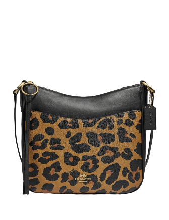 Coach Leopard Print Chaise Crossbody