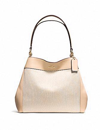 Coach Lexy Legacy Jacquard and Leather Shoulder Bag