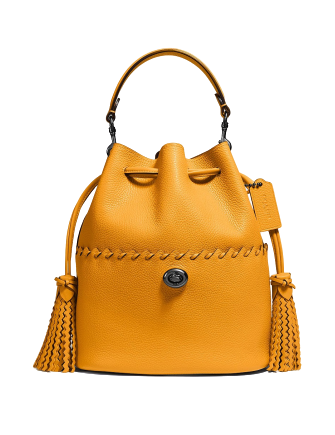 Coach Lora Bucket Bag With Whipstitch Detail