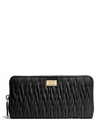 Coach Madison Accordion Wallet In Gathered Twist Leather