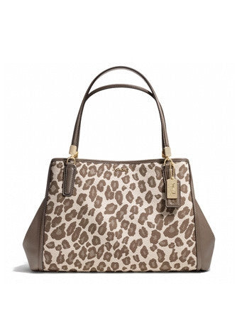 Coach Madison Cafe Carryall In Ocelot Jacquard Fabric