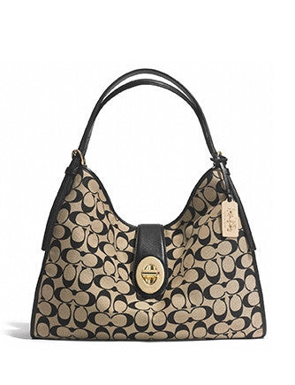 Coach Madison Carlyle Shoulder Bag in Signature Fabric
