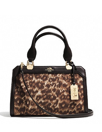 Coach Madison Mini Lexington Carryall In Ocelot Print