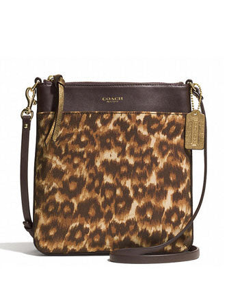 Coach Madison North/South Swingpack In Ocelot Leopard