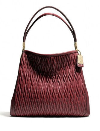 eb81478ea9bf ... cheap coach madison small phoebe shoulder bag in gathered twist leather  64a54 2cda6