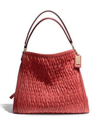 Coach Madison Phoebe Shoulder Bag In Gathered Twist Leather