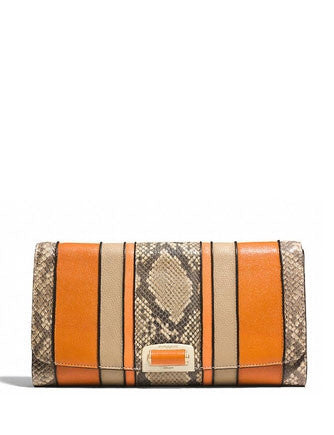 Coach Madison Pinnacle Clutch in Exotic Snake Embossed Stripe
