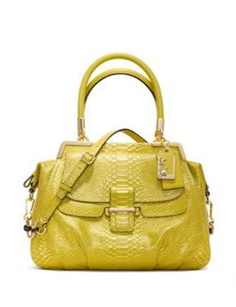 Coach Madison Pinnacle Embossed Python Lily Satchel