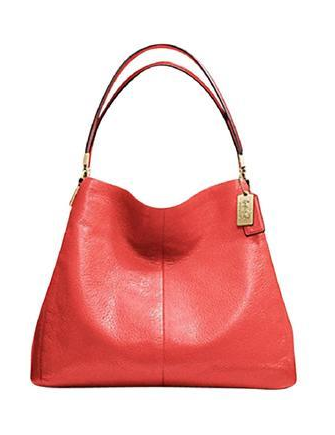 Coach Madison Small Phoebe Leather Shoulder Bag