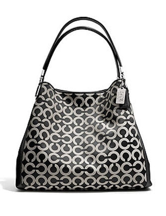 Coach Madison Small Phoebe Shoulder Bag In Op Art Sateen