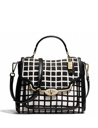 Coach Madison Small Sadie Satchel in Graphic Print Fabric