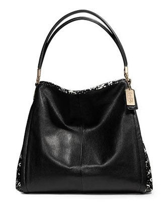 Coach Madison Two Tone Python Embossed Leather Phoebe