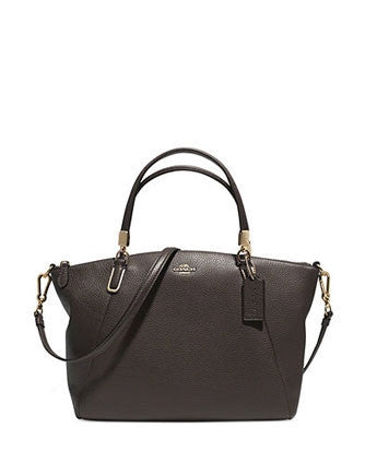 Coach Madison Zip Top Small Kelsey Satchel in Pebbled Leather