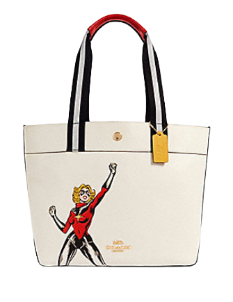 Coach Marvel Jes Tote With Carol Danvers