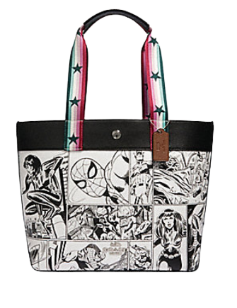Coach Marvel Jes Tote With Comic Book Print