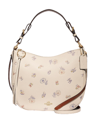Coach Meadow Prairie Print Sutton Leather Hobo