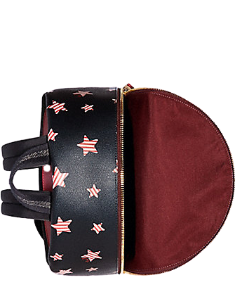 Coach Medium Charlie Backpack With Americana Star Print