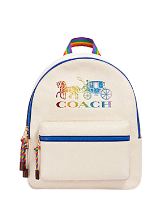 Coach Medium Charlie Backpack With Rainbow Horse and Carriage