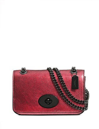 Coach Metallic Leather Mini Chain Crossbody