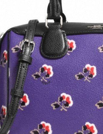 Coach Mini Bennett Satchel in Bramble Rose