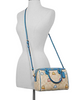 Coach Mini Bennett Satchel in Signature Canvas with Pac Man Ghosts Print