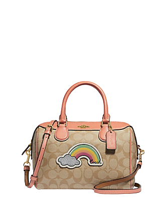 Coach Mini Bennett Satchel in Signature Canvas with Rainbow