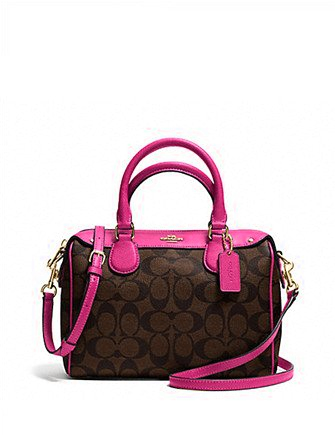 Coach Mini Bennett Satchel In Signature Print