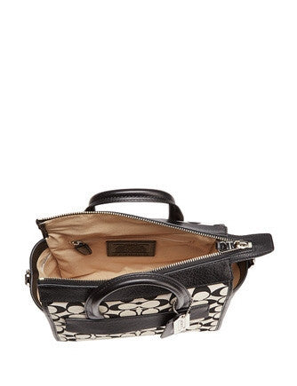 Coach Bleecker Mini Riley Carryall In Signature Fabric