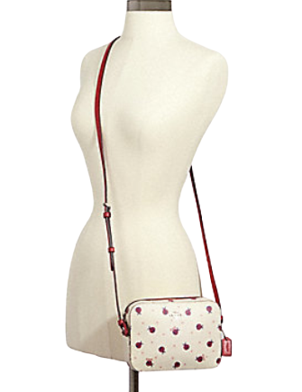 Coach Mini Camera Bag With Ladybug Print