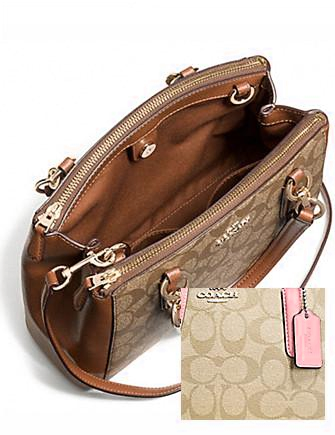 Coach Mini Christie Carryall in Signature Coated Canvas