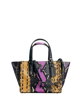 Coach Mini Crosby Carryall In Exotic Embossed Leather