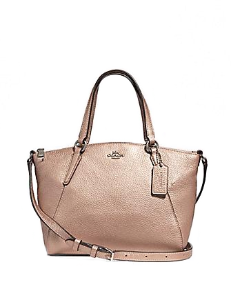 Coach Mini Kelsey Metallic Satchel