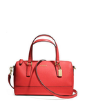 Coach Mini Saffiano Leather Zip Top Satchel