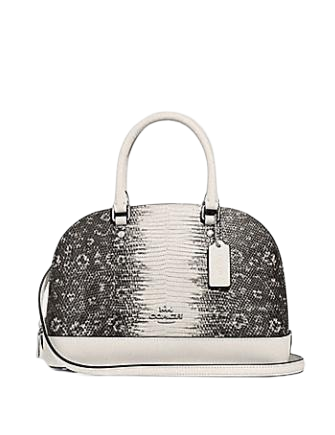 Coach Mini Sierra Embossed Leather Satchel