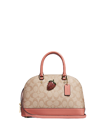 Coach Mini Sierra Satchel in Signature Canvas with Strawberry