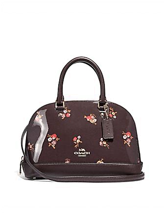 Coach Mini Sierra Satchel With Baby Bouquet Print