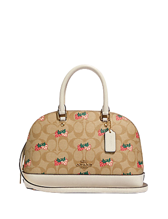 Coach Mini Sierra Satchel With Strawberry Print