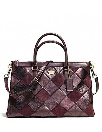 Coach Morgan Patchwork Metallic Leather Satchel