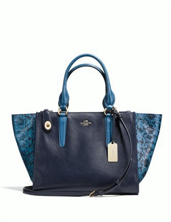 Coach Crosby Carryall in Colorblock Exotic Embossed Leather