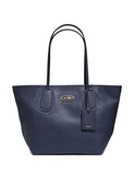 Coach Zip Top Taxi Shoulder Tote in Crossgrain Leather