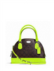 Coach Mini Cora Neon Domed Satchel
