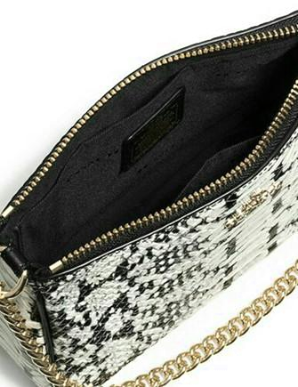 Coach Nolita Wristlet 19 in Colorblock Exotic Embossed Leather