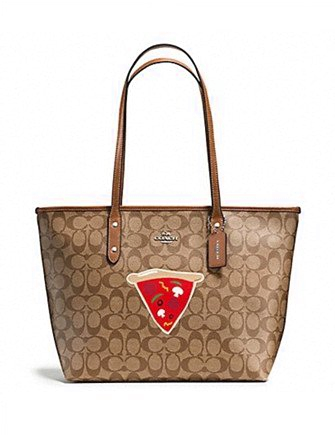 Coach NYC Pizza Slice Taxi Zip Signature Tote