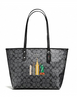 Coach NYC Skyline City Signature Zip Top Tote