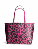 Coach Ocelot Reversible City Tote and Travel Pouch