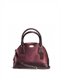 Coach Metallic Crossgrain Mini Cora Dome Satchel