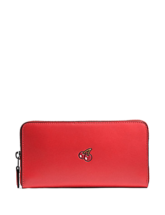 Coach Pac Man Accordion Zip Wallet in Calf Leather