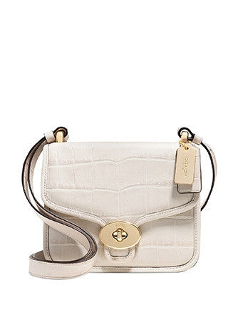 Coach Page Mini Crossbody in Croc Embossed Leather