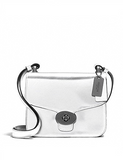 Coach Page Mini Crossbody in Mirror Metallic Leather