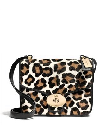 Coach Page Shoulder Bag in Ocelot Print Haircalf